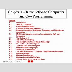 Ppt  Chapter 1  Introduction To Computers And C++ Programming Powerpoint Presentation Id407788