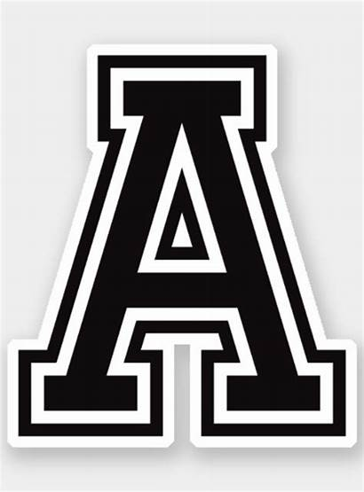 Letter Font College Sports Letters Alphabet Sticker