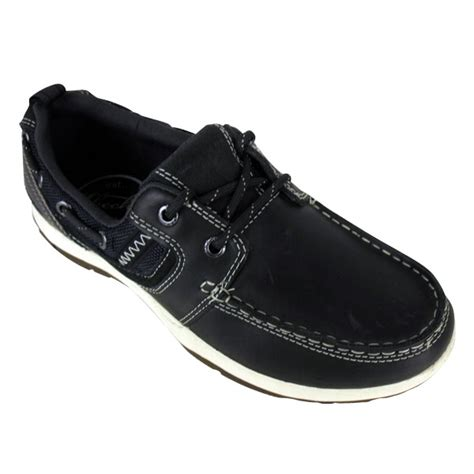Skechers Boat Shoes Australia by Mens Skechers Newman Vinci Leather Boat Shoe Loafer Deck