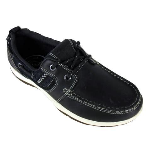 mens skechers newman vinci leather boat shoe loafer deck