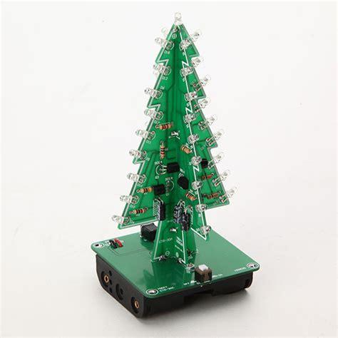 3d 3 colours led christmas tree flash kit electronic