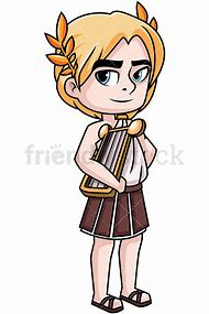 Apollo Greek God Cartoon Drawing