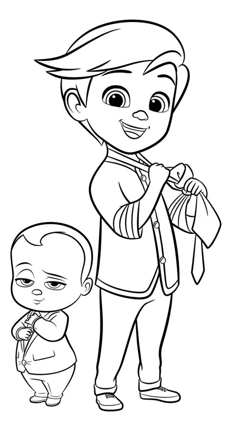 boss baby coloring pages    print