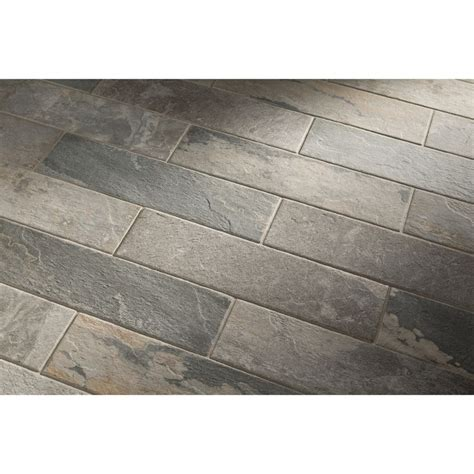 shop style selections ivetta black slate glazed porcelain