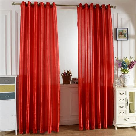 home room satin window screening curtain blackout drapes