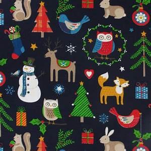 Tissu De Noel : tissu no l animaux bleu nuit x10cm rico design ~ Preciouscoupons.com Idées de Décoration