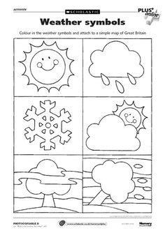 weather chart kindergarten printable preschool seasons