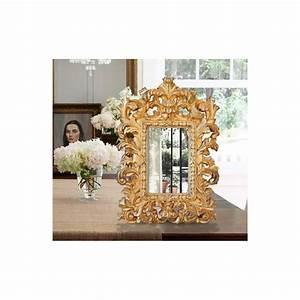 Miroir à Poser : miroir baroque dor de style v nitien poser ou suspendre ~ Teatrodelosmanantiales.com Idées de Décoration