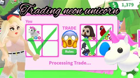 Tons of codes and rewards are waiting for you, so don't let expire the codes and claim them all. TRADING A NEON FR UNICORN! Roblox   Adopt Me - YouTube