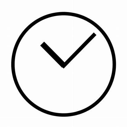 Svg Clock Simple Clipart Plain Clocks Wikimedia