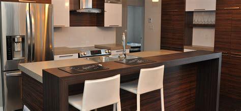comptoir cuisine stratifié cuisine contemporaine avec armoires de mélamine et