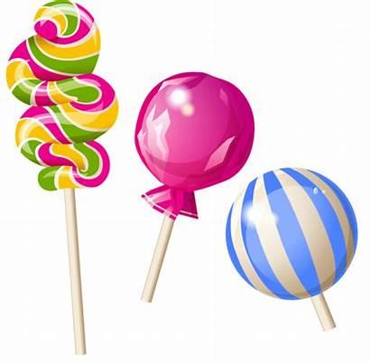 Candy Clipart Candyland Transparent Lollipops Lollies Lollipop