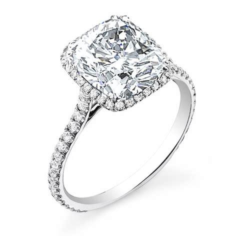 2 80ct natural diamond cushion cut halo u prong pave