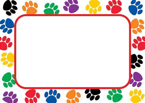 colorful paw prints  tagslabels tcr teacher