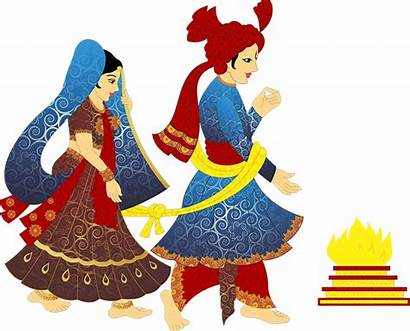 Clipart Groom Bride Indian Hindu Dance Clip