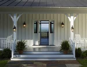 Farmhouse exterior lighting porch farmhouse with metal