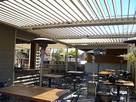 commercial aluminum louvered roof patio cover