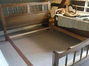 lit bois brut a peindre mzaolcom With comment peindre un lit en bois