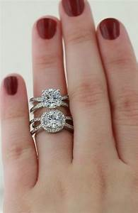 Two styles of split shank engagement rings engagement for Split shank engagement ring with wedding band