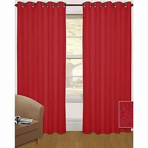 Rideaux à Oeillets : rideaux oeillets thermique occultant rouge 228x182 cm achat vente rideau cdiscount ~ Teatrodelosmanantiales.com Idées de Décoration