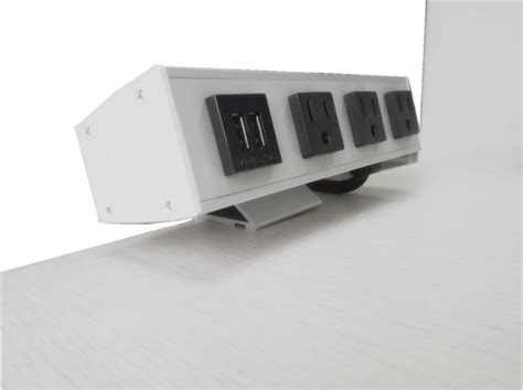desk l with usb port and outlet desk mounted power sockets with 3 outlets and 2 usb ports