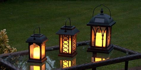 lanterns carriage battery garden lantern with crook