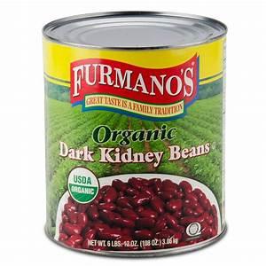 Furmano39s 10 Can Organic Dark Kidney Beans In Brine 6Case