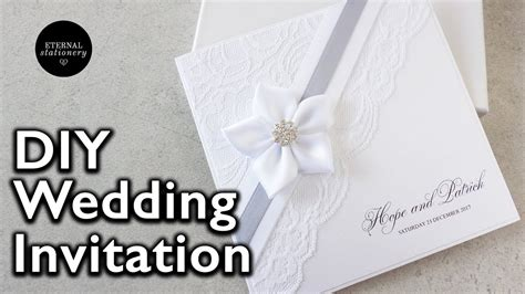 how to make an elegant lace invitation diy wedding