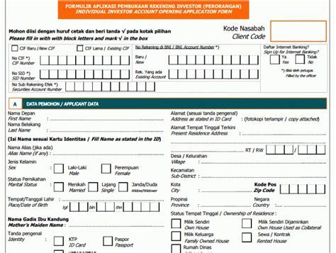Contoh Lmaran Kerja Pke Olop by Contoh Formulir Di Bank Surat Box