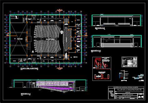 auditorium dwg section  autocad designs cad