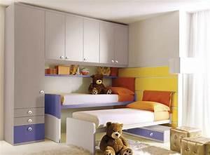 Armoire Pont De Lit : armoire pont de lit pour chambre d 39 enfant mixte 208 ~ Teatrodelosmanantiales.com Idées de Décoration