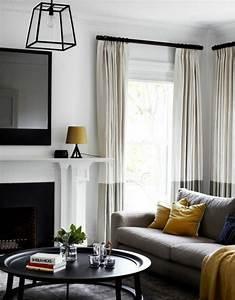 Peinture Murale Blanche : d co salon salon gris et blanc avec des clats noirs ~ Nature-et-papiers.com Idées de Décoration