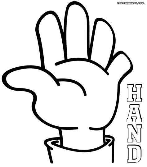 hands coloring pages coloring pages    print