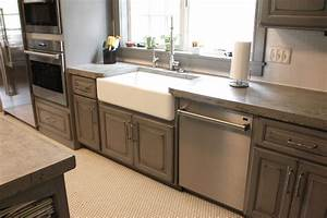 gray painted distressed custom kitchen cabinets tmh03 2252