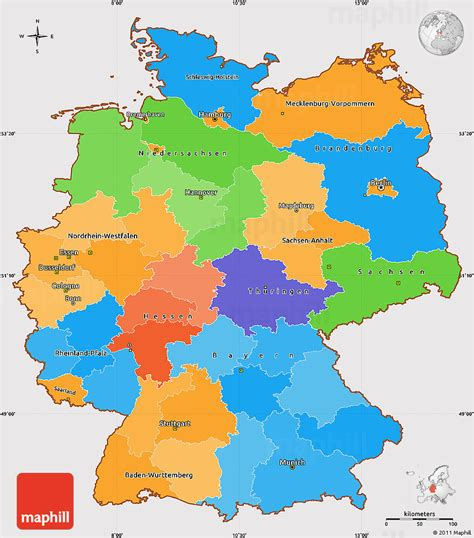 Political Simple Map Of Germany Cropped Outside