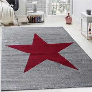 Teppich Jugendzimmer Jungen : designer teppich stern muster modern trendig kurzflor ~ Michelbontemps.com Haus und Dekorationen