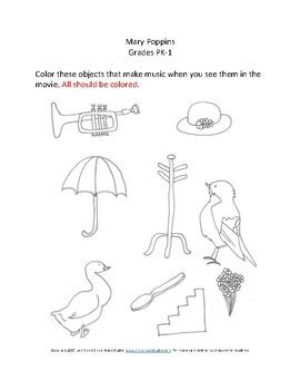 mary poppins movie worksheets by ennis music studio tpt