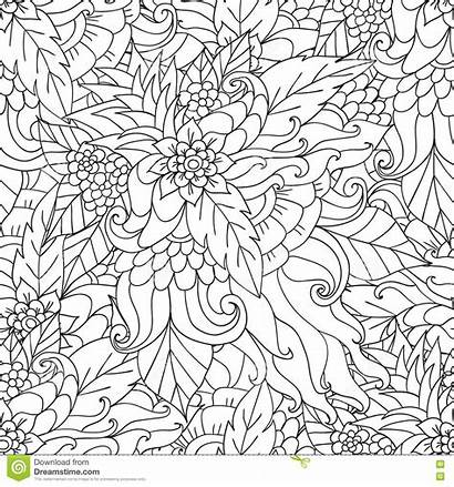 Coloring Nature Pages Adult Adults Pattern Books