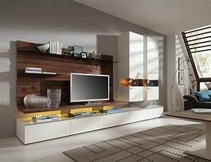 Wohnwand Weiß Holz : wohnwand f r moderne wohnzimmer 24 schrankw nde ~ A.2002-acura-tl-radio.info Haus und Dekorationen