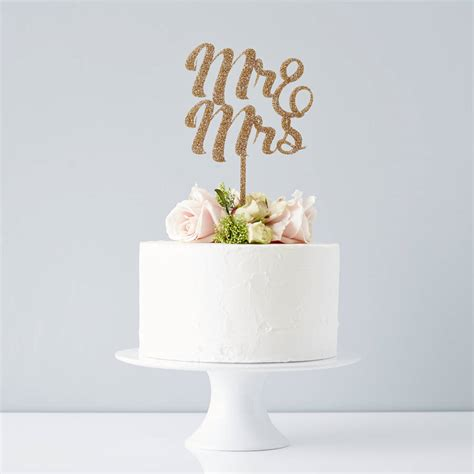 Mr And Mrs Wedding Cake Topper By Sophia Victoria Joy