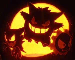 Gengar Pokemon Pumpkin Stencil by Gastly Haunter And Gengar Pumpkin Sooooooo Amazing