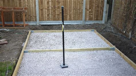 concrete slab for shed base how to make a concrete shed base