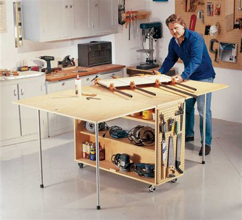 aw extra  folding worktable popular woodworking