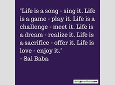 Life Game Sai Baba Quotes QuotesGram