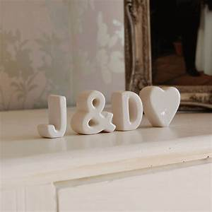 free standing ceramic letters by the gift studio With ceramic letters