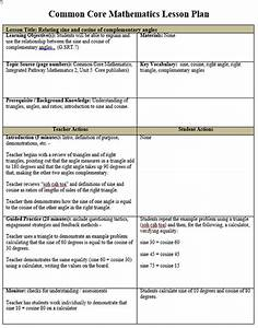 common core math lesson plan template free With algebra lesson plan template