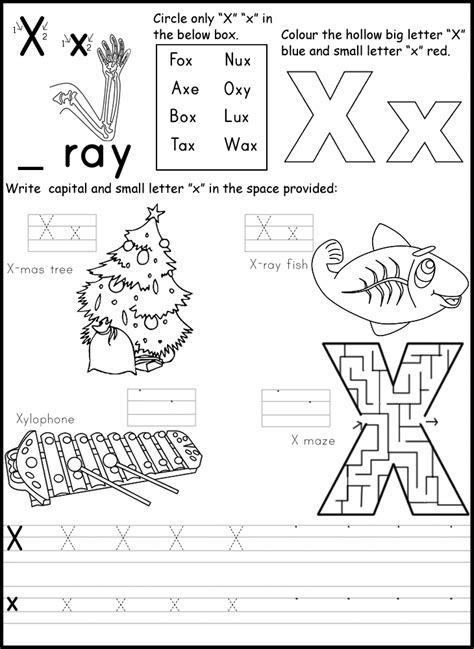 writing worksheets for kindergarten