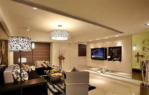 Living room floor lamp and ceiling interior design