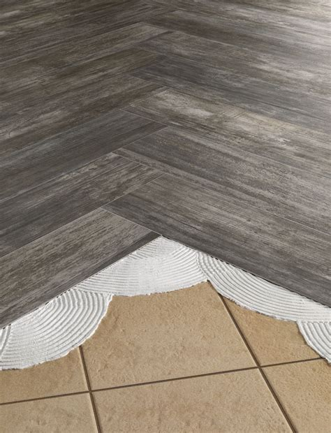 Install #THINNERtile right over old outdated #tile #floors