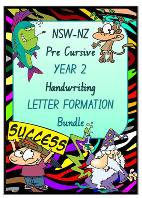 year  handwriting letter formation bundle nsw nz